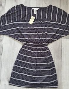 Max Studio black and grey striped dress